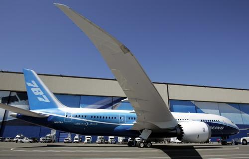 """波音公司正式揭开787""""梦想""""飞机的""""面纱"""",飞机制造商美国波音公司为其"""
