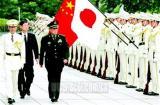 安倍会见曹刚川 我防长检阅日本自卫队