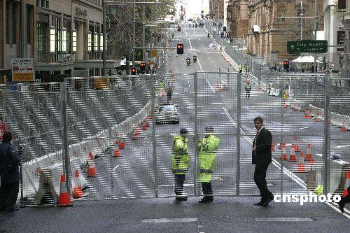图文:APEC峰会前夕悉尼中央商务区俨如围城