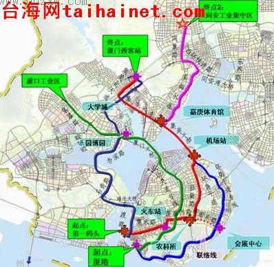 快讯 厦门市快速公交系统 BRT 今日开工图片