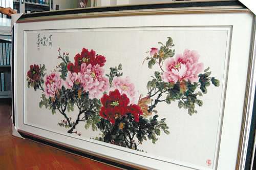 爱心大会捐赠了一幅画作的沈阳市盛京书画院国画创作师孙景龙打来电话图片
