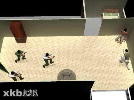 绑匪举刀欲砍人质被警察开枪击伤(组图)