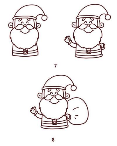 圣诞驯鹿简笔画