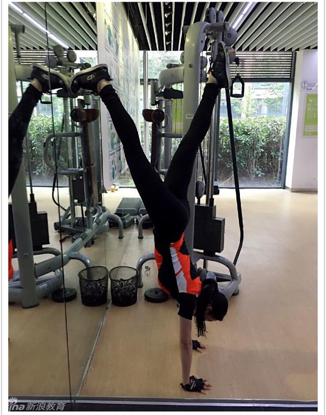 组图﹕美女健身空姐 身材堪比韩最美体育老师