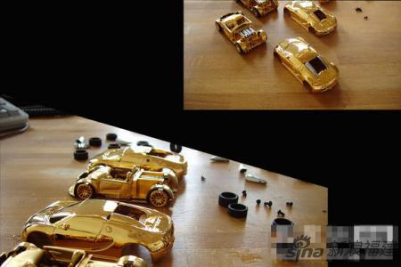黄金钻石打造7公斤世界最贵超级跑车模型