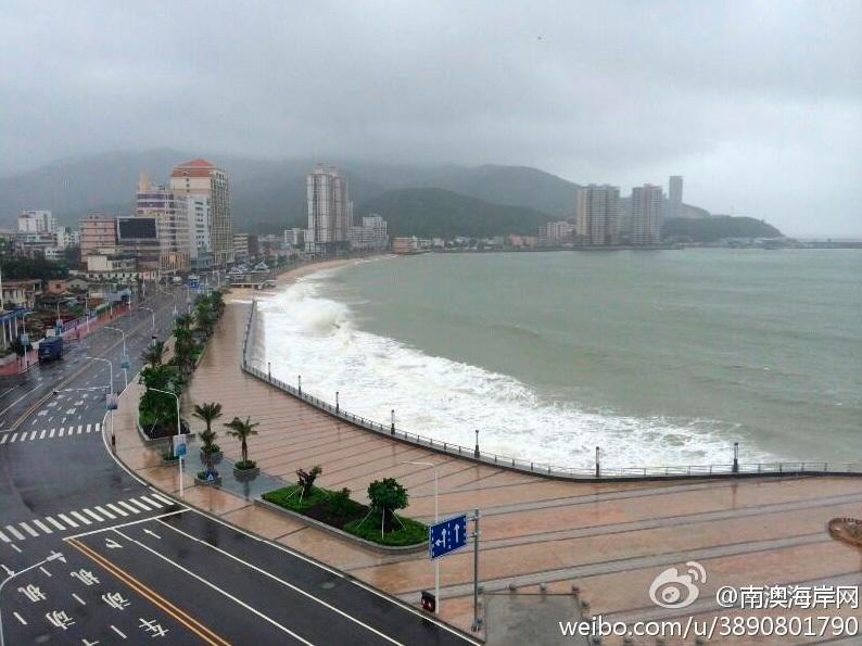 台风海贝思登陆汕头