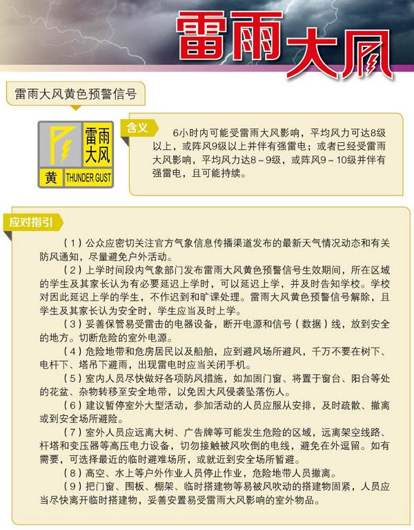 象灾害预警信号图标含义及应对指南.-气象灾害预警防御指引图