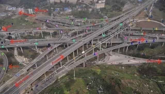 重庆南岸区的黄桷湾立交桥正式完工