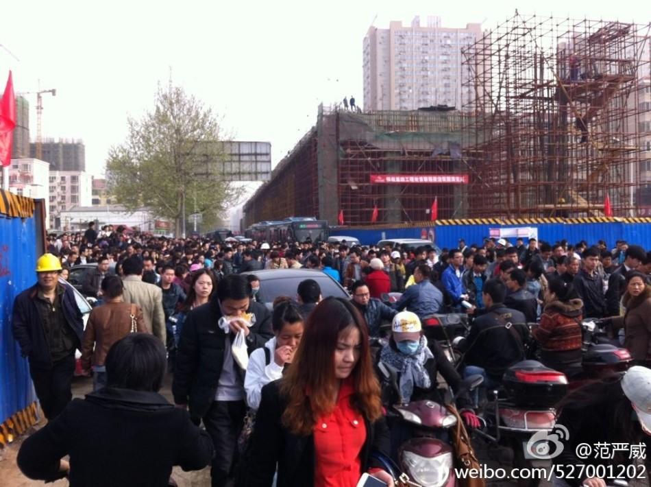 郑州今早北环陈寨被堵爆