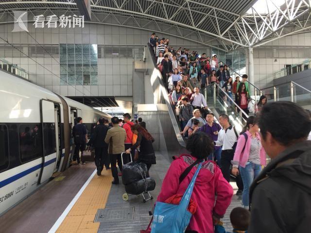 南昌西动车组2对,加开上海至北京、阜阳至北京西普速旅客列车2对高清图片