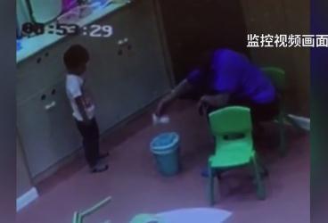 垃圾桶给孩子擦嘴