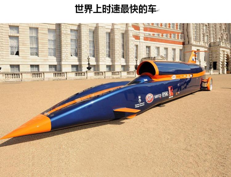 Thrust SSC火箭车曾创造出人类陆地极限速度1228公里/小时,2015图片
