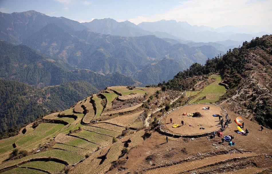喜马拉雅山鸟瞰图片