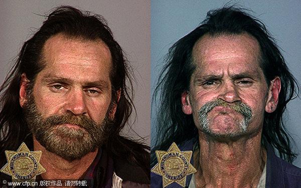 们将毒品使用者不同阶段的两张照片拼接在一起展示,试图向青少年