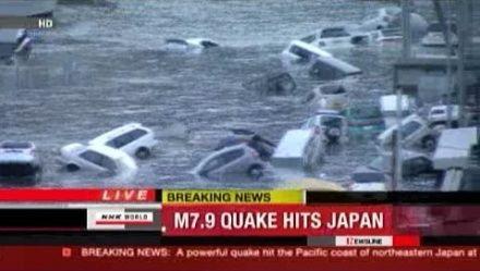 快讯:日本强震升至8.9级 10公尺海啸席卷沿海(组图)