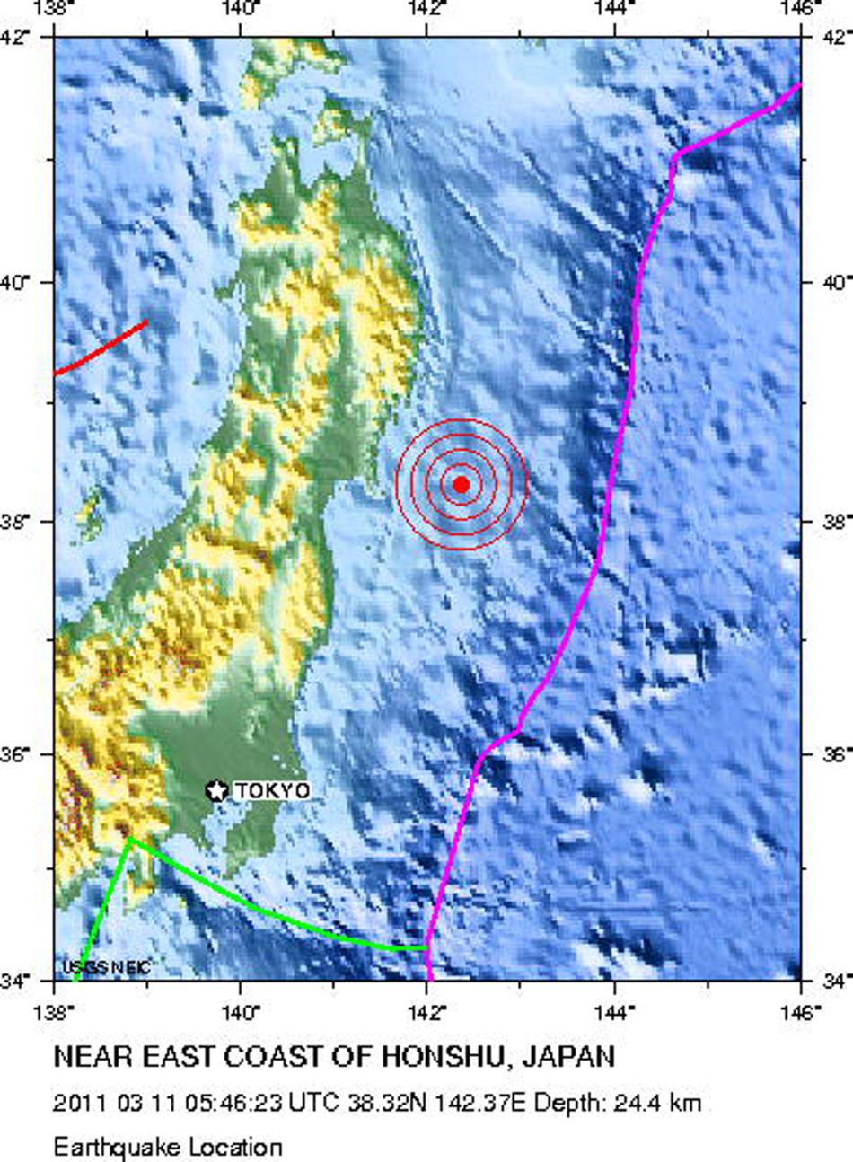 快訊︰日本強震升至8.9級 10公尺海嘯席卷沿海(組圖)