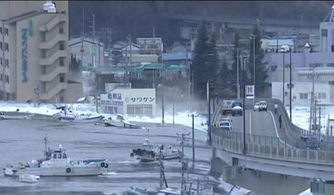 高清图集:日本近海8.9级地震引发海啸海浪高达10米