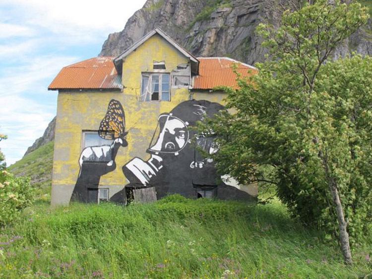 盘点各国街头艺术破墙上现搬砖涂鸦图片