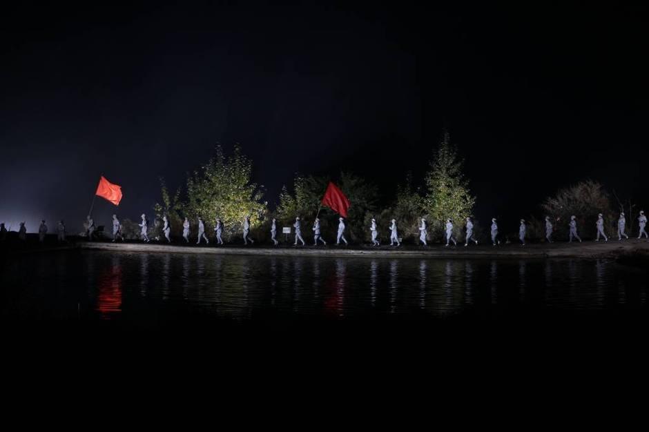 去年9月,武乡县斥巨资打造大型实景演出《太行山》首演,演出地选
