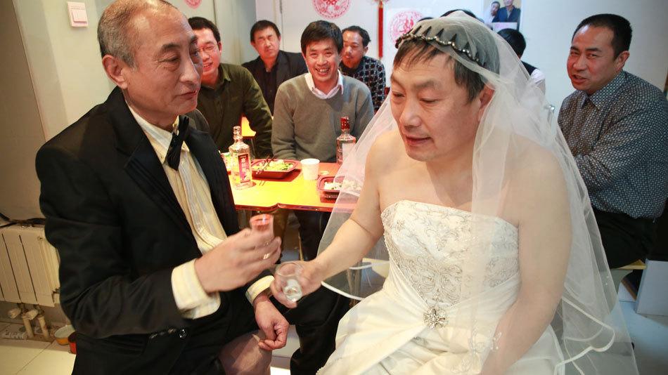 das erste Homo-Paar aus Senioren in Peking