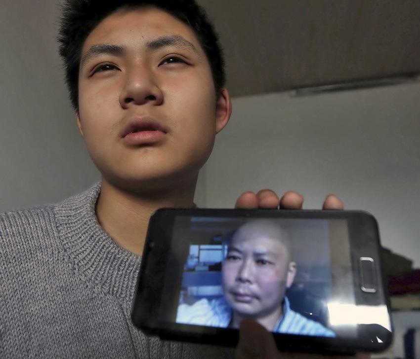 今年14岁的男孩王一竹是江苏南通第一初级中学的初二学生.2012年图片