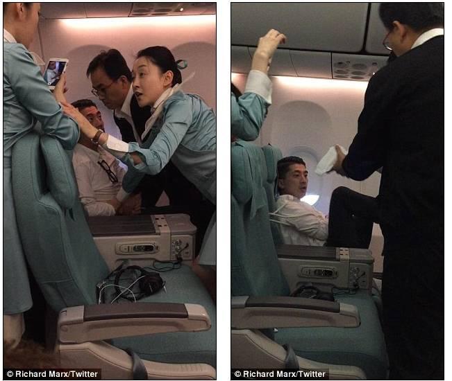 男子飞机上攻击空姐 美国情歌王子相助