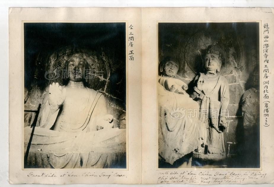 洛阳龙门石窟佛像。
