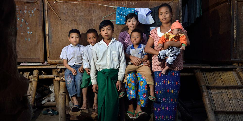 缅北难民:没有男人的家