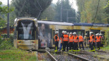 德国轻轨列车因速度过快脱轨冲入公园