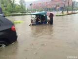 南京现大暴雨 水深及腰全城看海