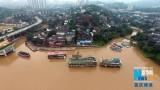 航拍2015年最大洪峰过境后的重庆城