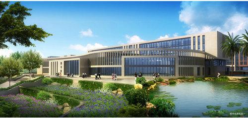 四川师范大学成都学院眉山校区,坐落在成都天府新区,眉山岷东新区图片