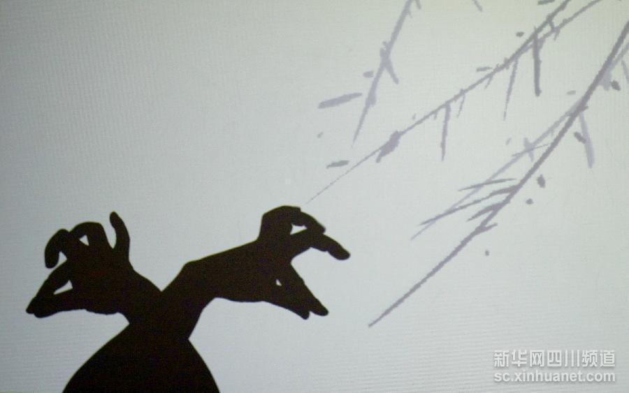 这些影子来自四川成都手影艺术家沈晓的一双巧手.新华网四川记者 图片