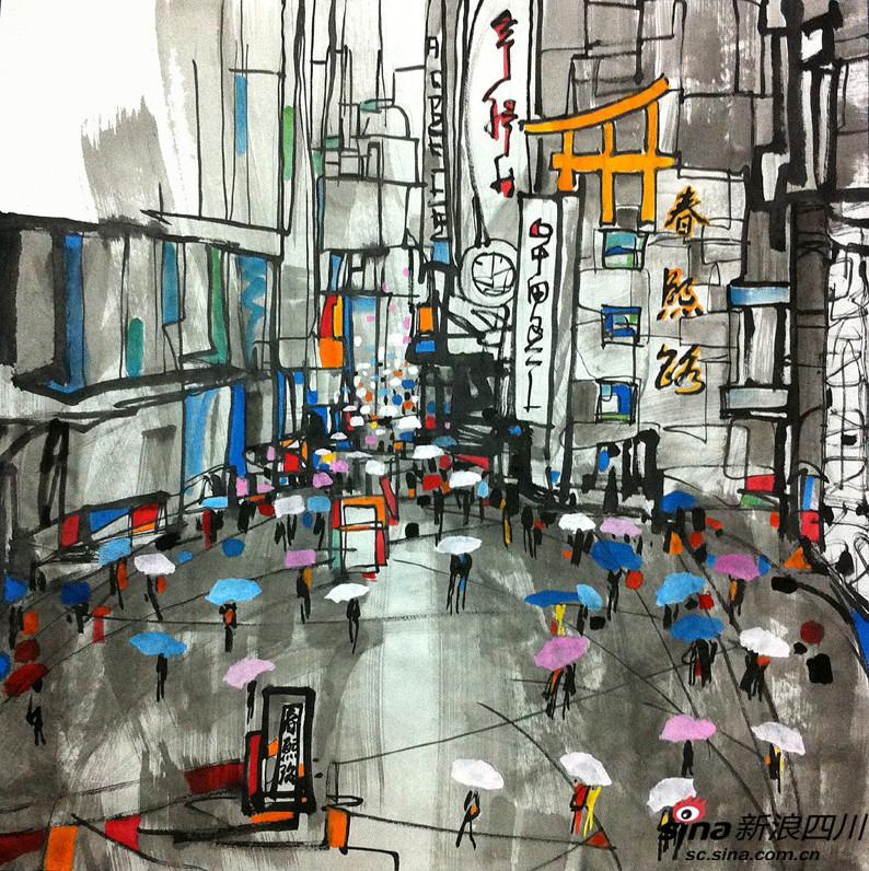 手绘成都新12大特色街道