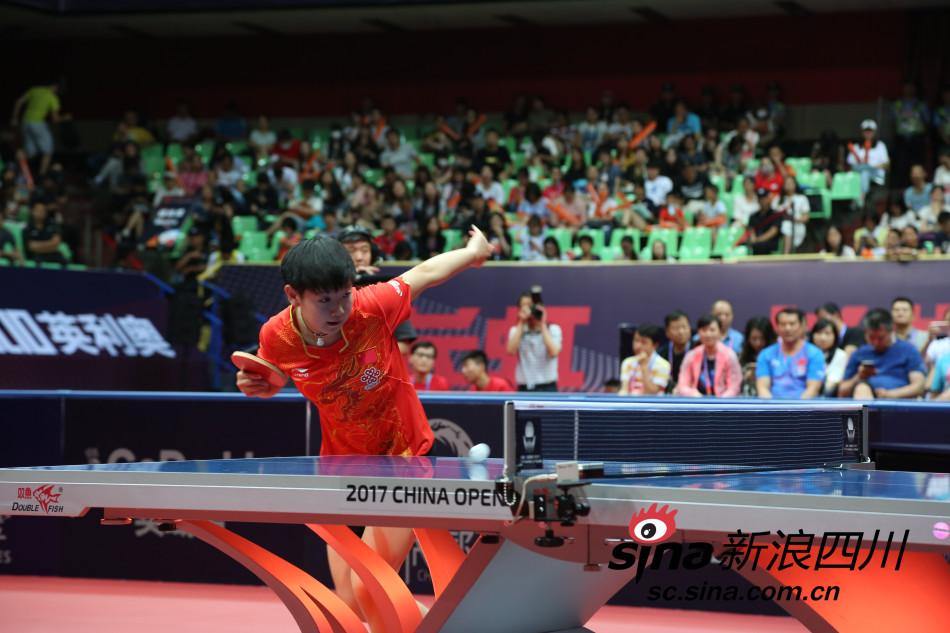 乒联世界巡回赛2017中国乒乓球公开赛女单决赛中,丁宁先失一局,