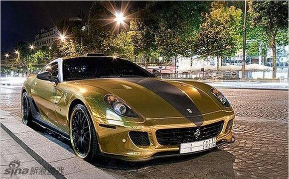第一名 黄金跑车 价格 28.5亿元 超酷黄金法拉利 穷人高清图片