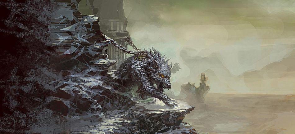 神兵传奇:游戏场景原画截图-北冥气氛; 北冥气氛; 神兵传奇原画之蛮荒
