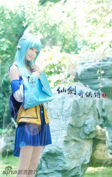 【仙剑奇侠传三】临流揽镜曳双魂 落红逐青裙 龙葵·蓝