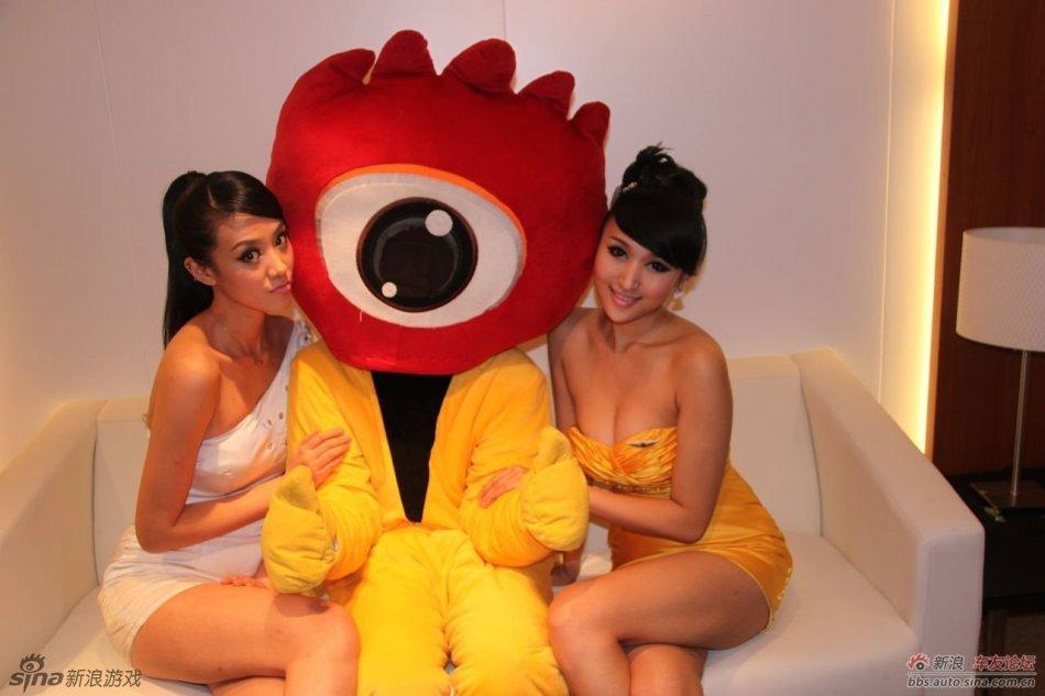 小新小浪在广州车展调戏无数美女 游戏频道|佛
