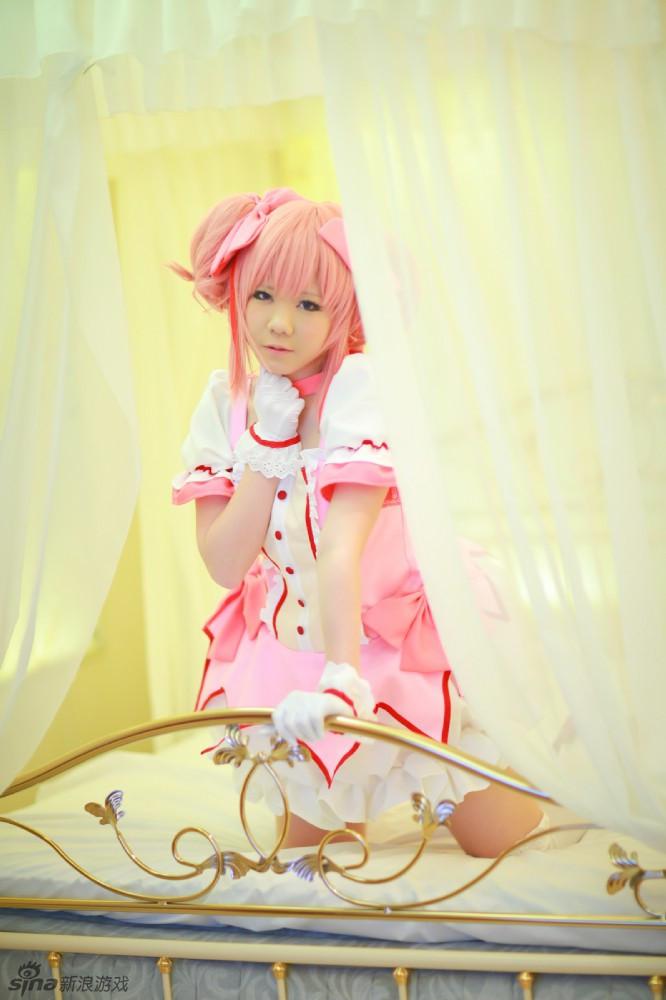 魔法少女小圆cosplay 粉扑扑的可爱到暴