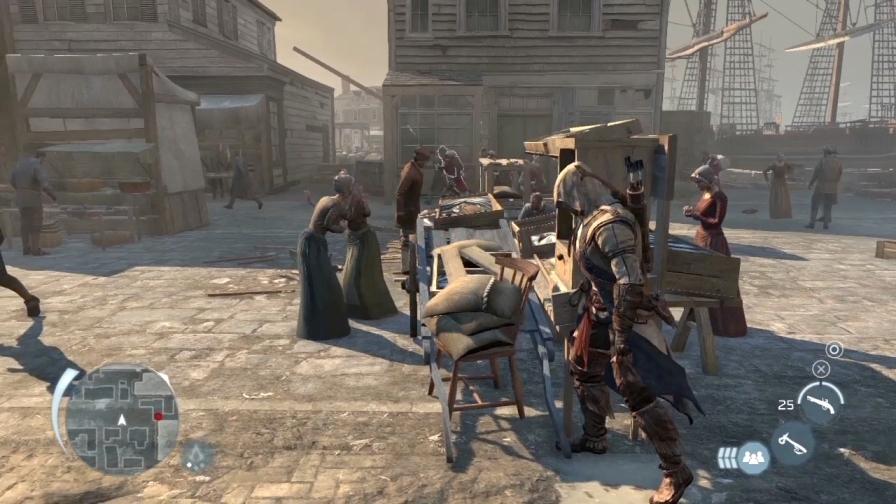 《刺客信条3》最新游戏画面图片