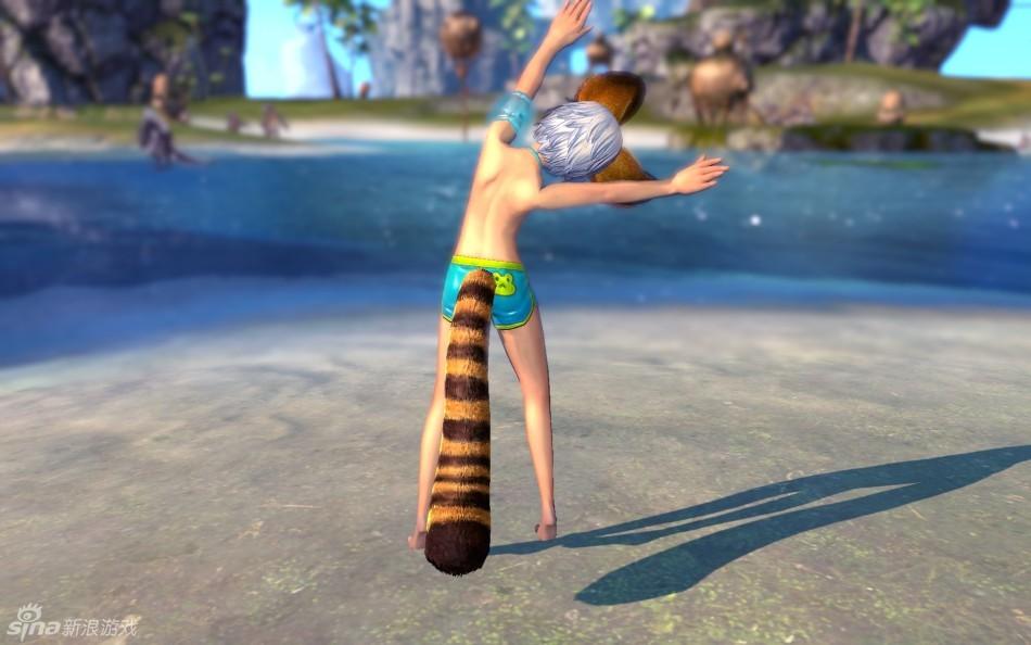 呼朋唤友下水了 剑灵超酷男性泳装组图高清图片