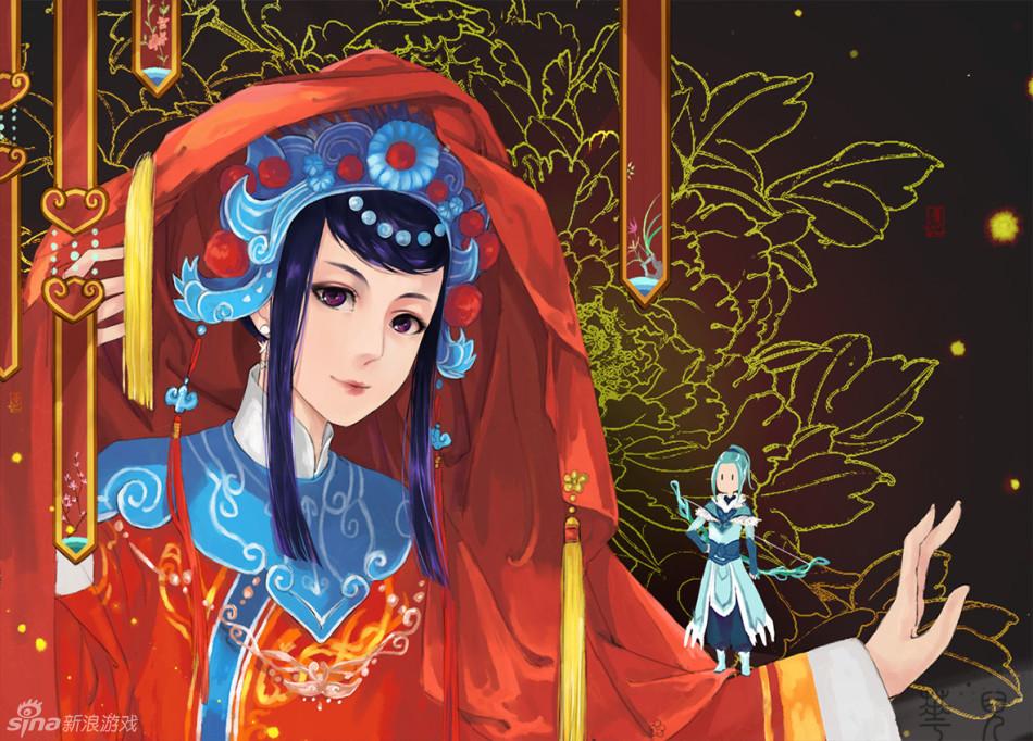 《梦幻西游2》玩家手绘壁纸_高清图集_新浪网