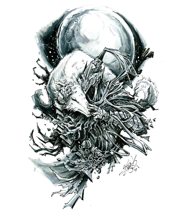 画师公开黑暗之魂手绘原画
