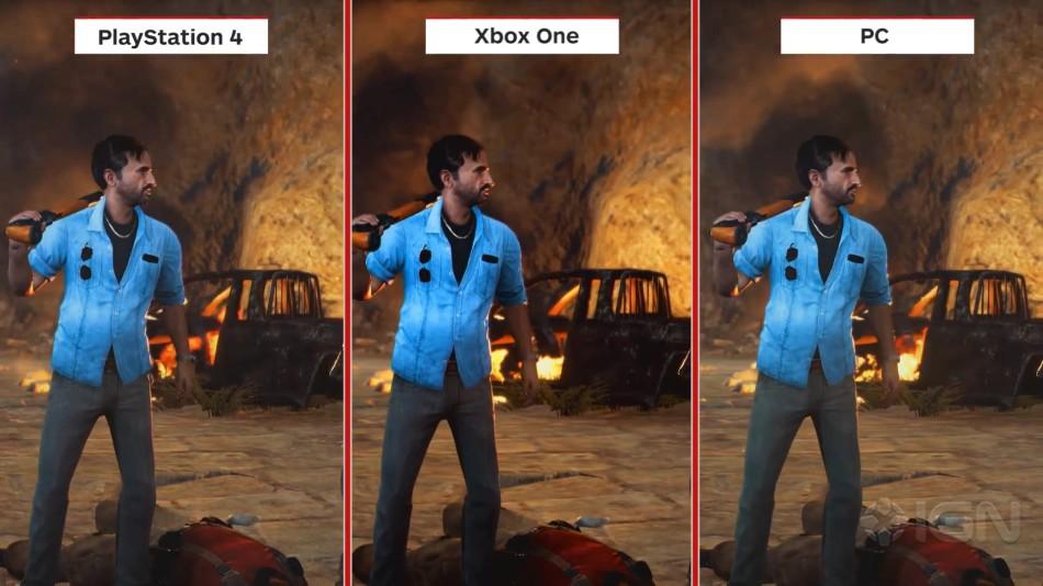 《正当防卫3》各平台画面对比