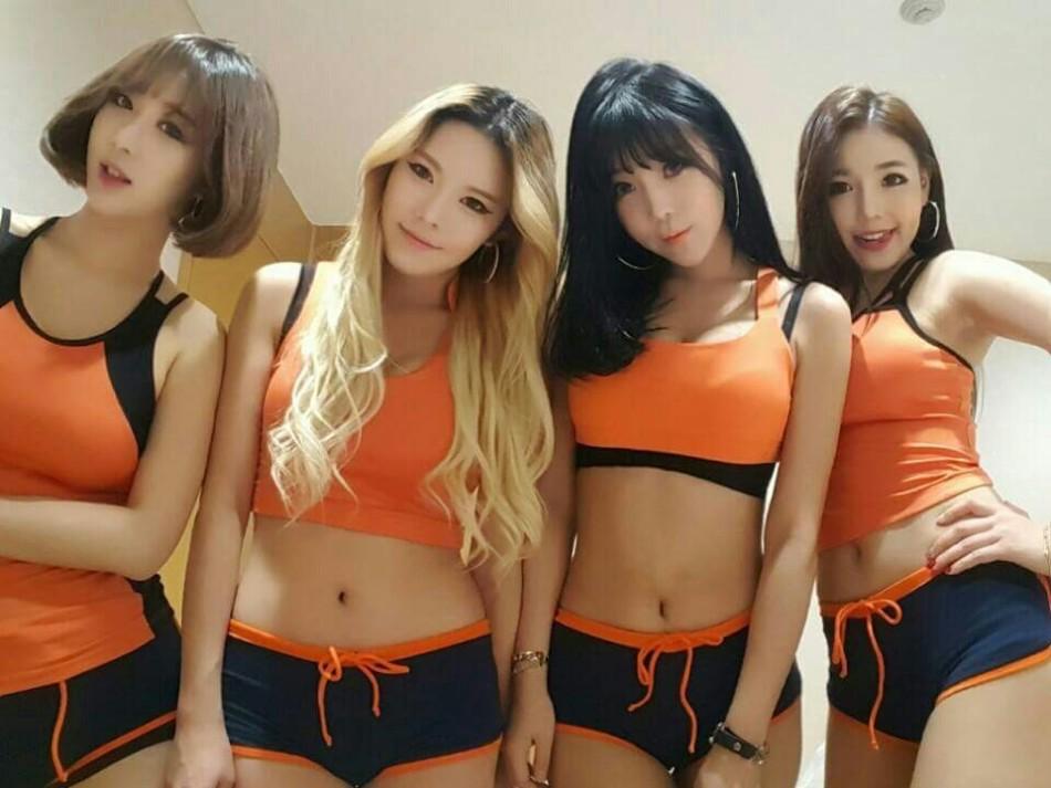 韓女團代言遊戲 舞蹈表演出位