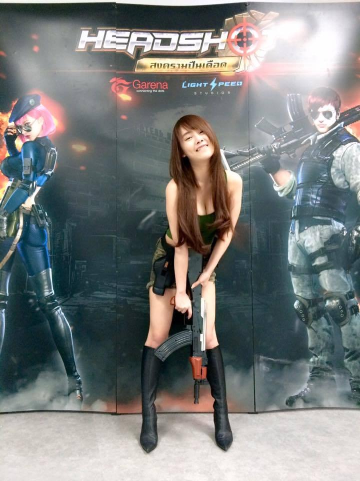 泰國虎牙妹化身性感女戰士