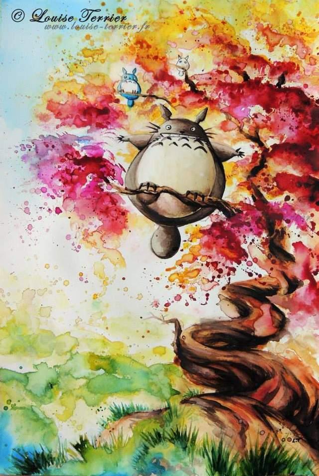 满满奇幻风 艺术画家自制水彩版宫崎骏