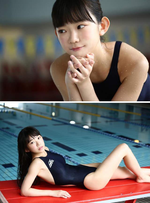 F杯合法蘿莉化身奧林匹克女神 拍攝泳裝寫真