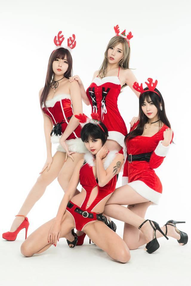 南韓正妹主播陪你過聖誕節
